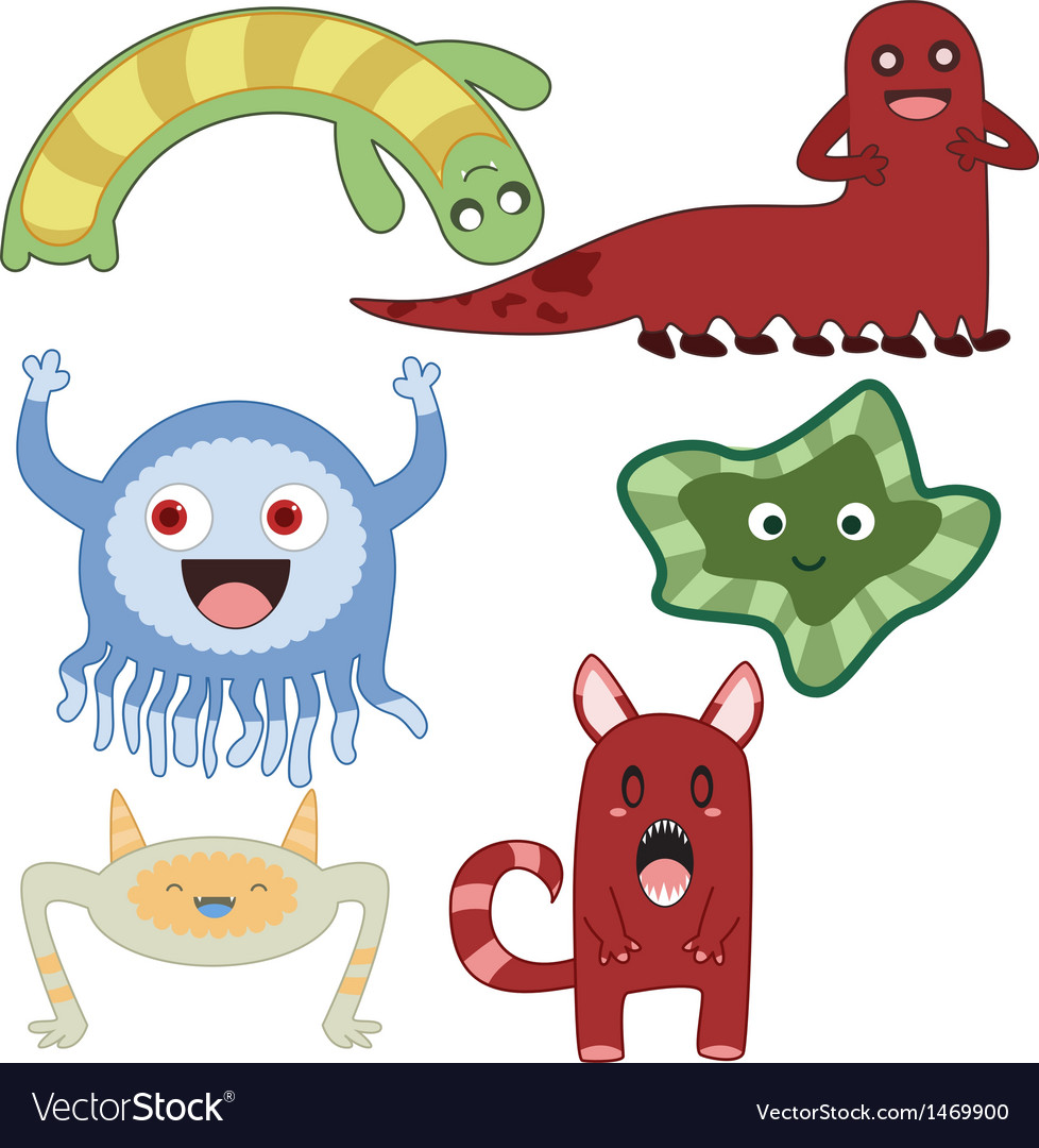 Monsters4 vector | Price: 1 Credit (USD $1)