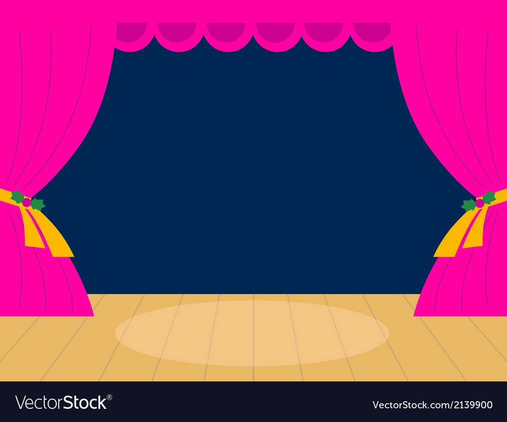 Pink theater background with copy space vector | Price: 1 Credit (USD $1)