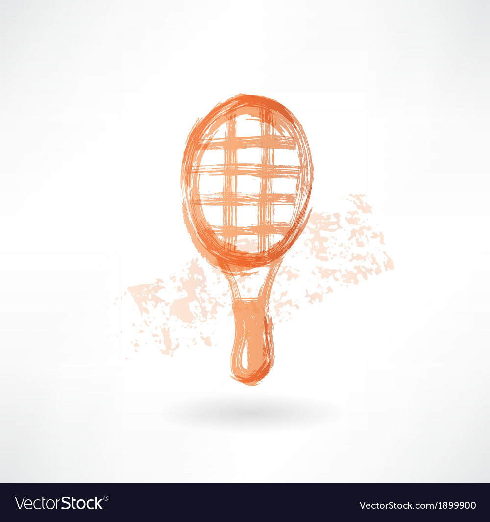 Racket grunge icon vector | Price: 1 Credit (USD $1)
