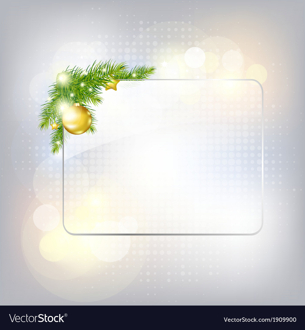Silver new year gard with glass frame vector | Price: 1 Credit (USD $1)