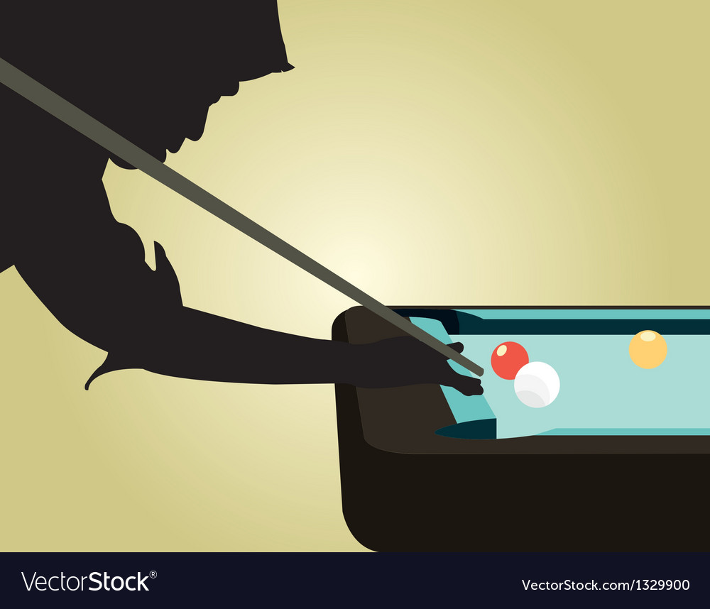 Snooker player silhouettes vector | Price: 1 Credit (USD $1)