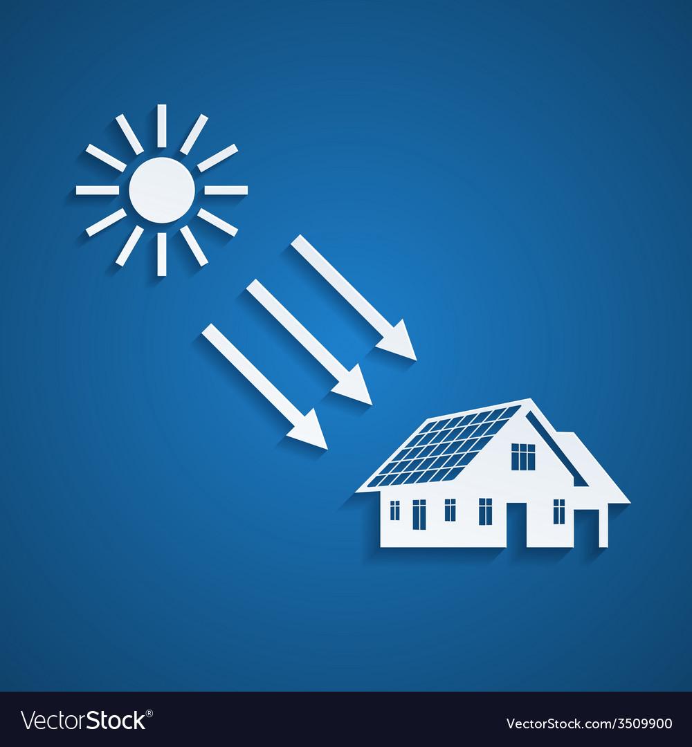 Solar energy vector | Price: 1 Credit (USD $1)