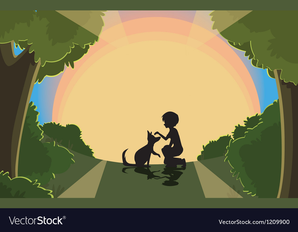 Sunset silhouette vector | Price: 1 Credit (USD $1)
