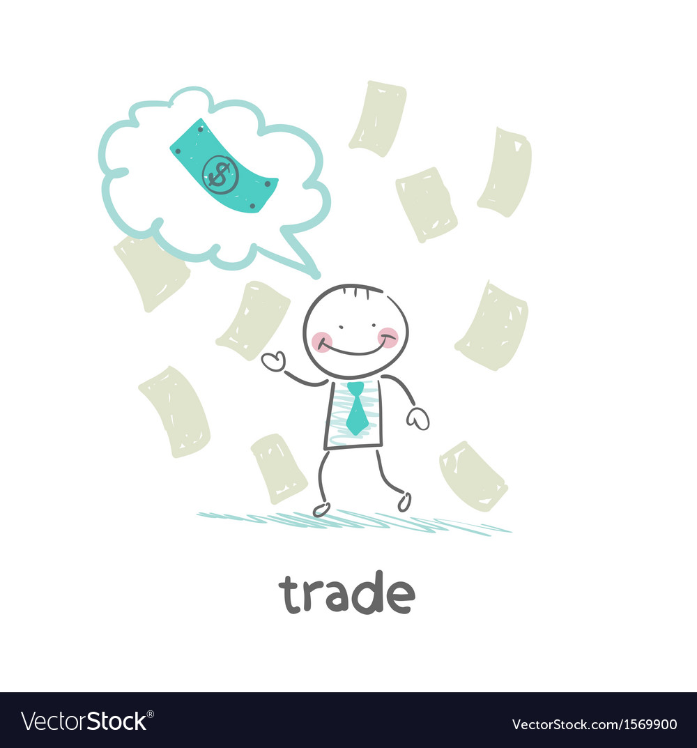 Trade thinks about money vector | Price: 1 Credit (USD $1)