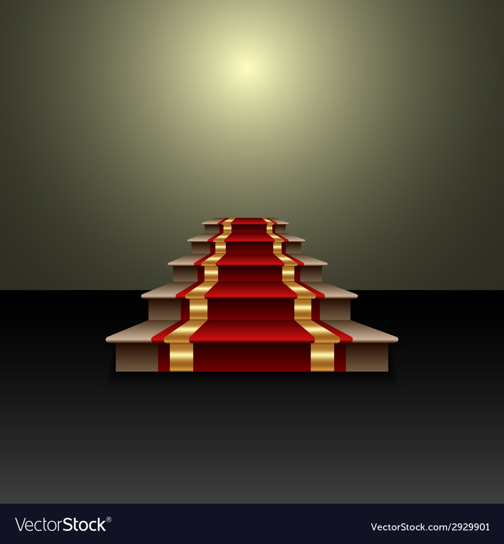 Abstract of red carpet on the staircase vector | Price: 1 Credit (USD $1)