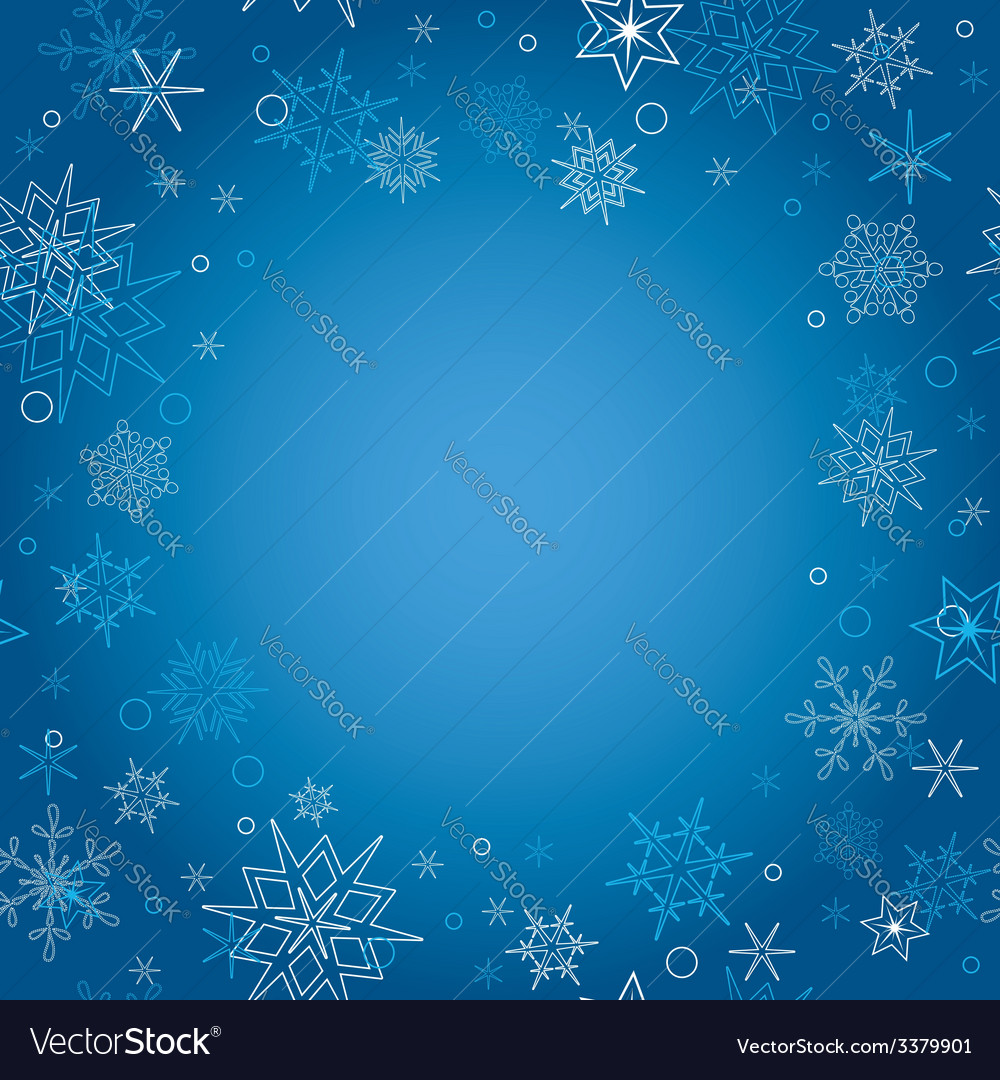 Background - blue christmas card with snowflakes vector | Price: 1 Credit (USD $1)