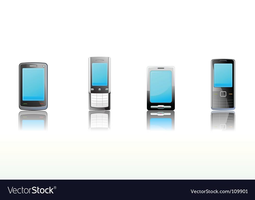 Black mobile phones icon set vector   Price: 1 Credit (USD $1)