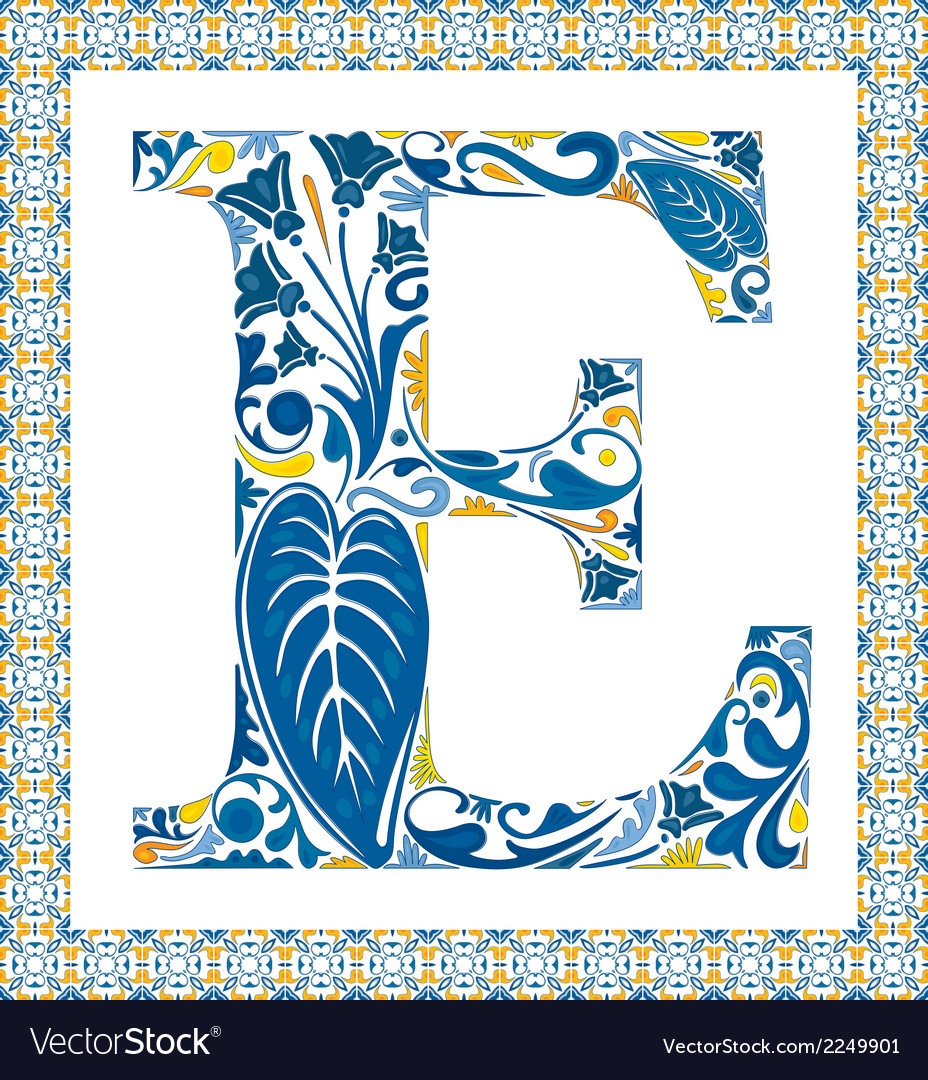 Blue letter e vector | Price: 1 Credit (USD $1)