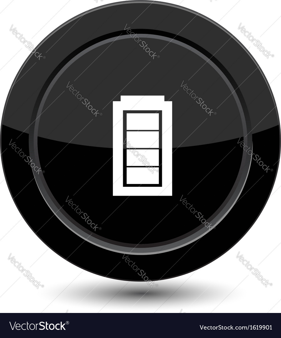 Button with battery vector | Price: 1 Credit (USD $1)