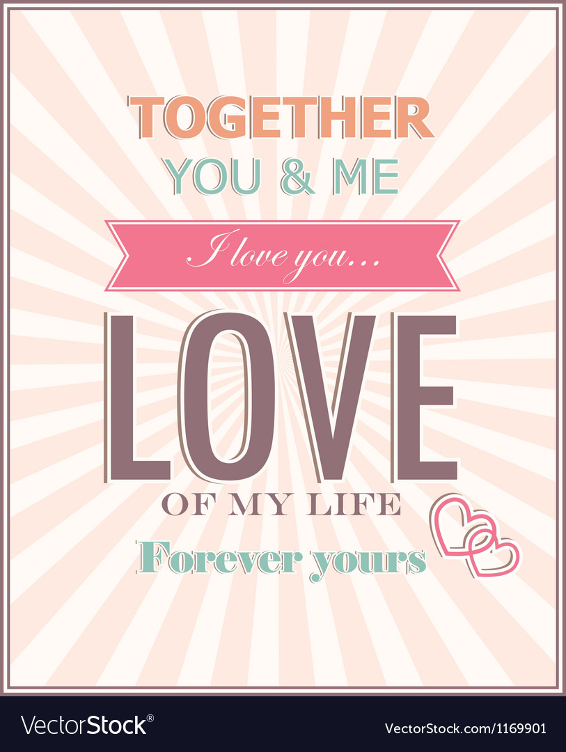 The card for valentines day vector | Price: 1 Credit (USD $1)