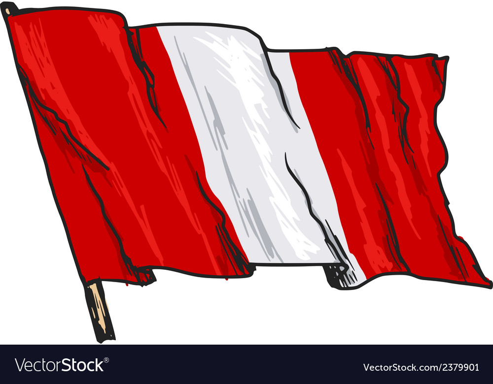 Flag of peru vector | Price: 3 Credit (USD $3)