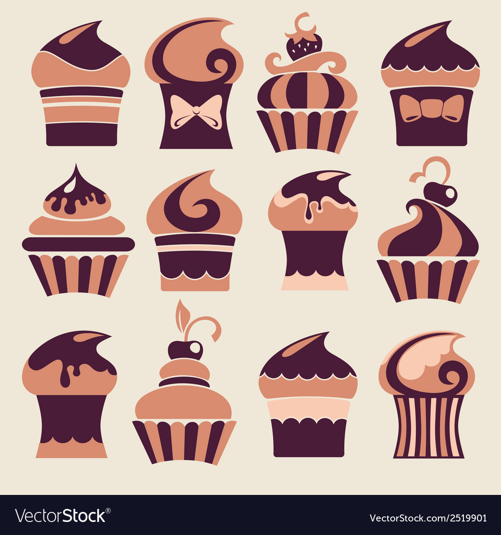 Funny cakes vector   Price: 1 Credit (USD $1)