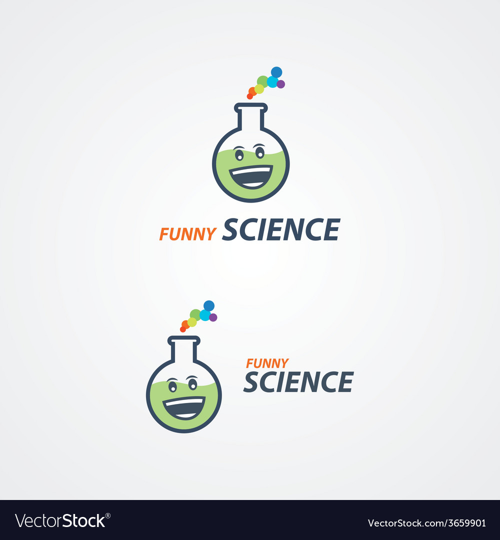 Funny science logo vector | Price: 1 Credit (USD $1)