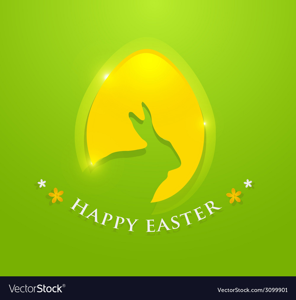 Happy easter egg with bunny ears shape vector | Price: 1 Credit (USD $1)