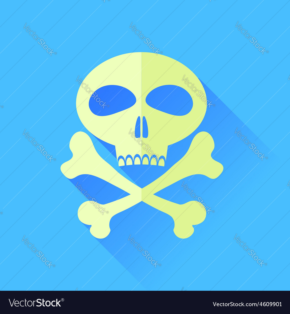 Skull and bones vector | Price: 1 Credit (USD $1)