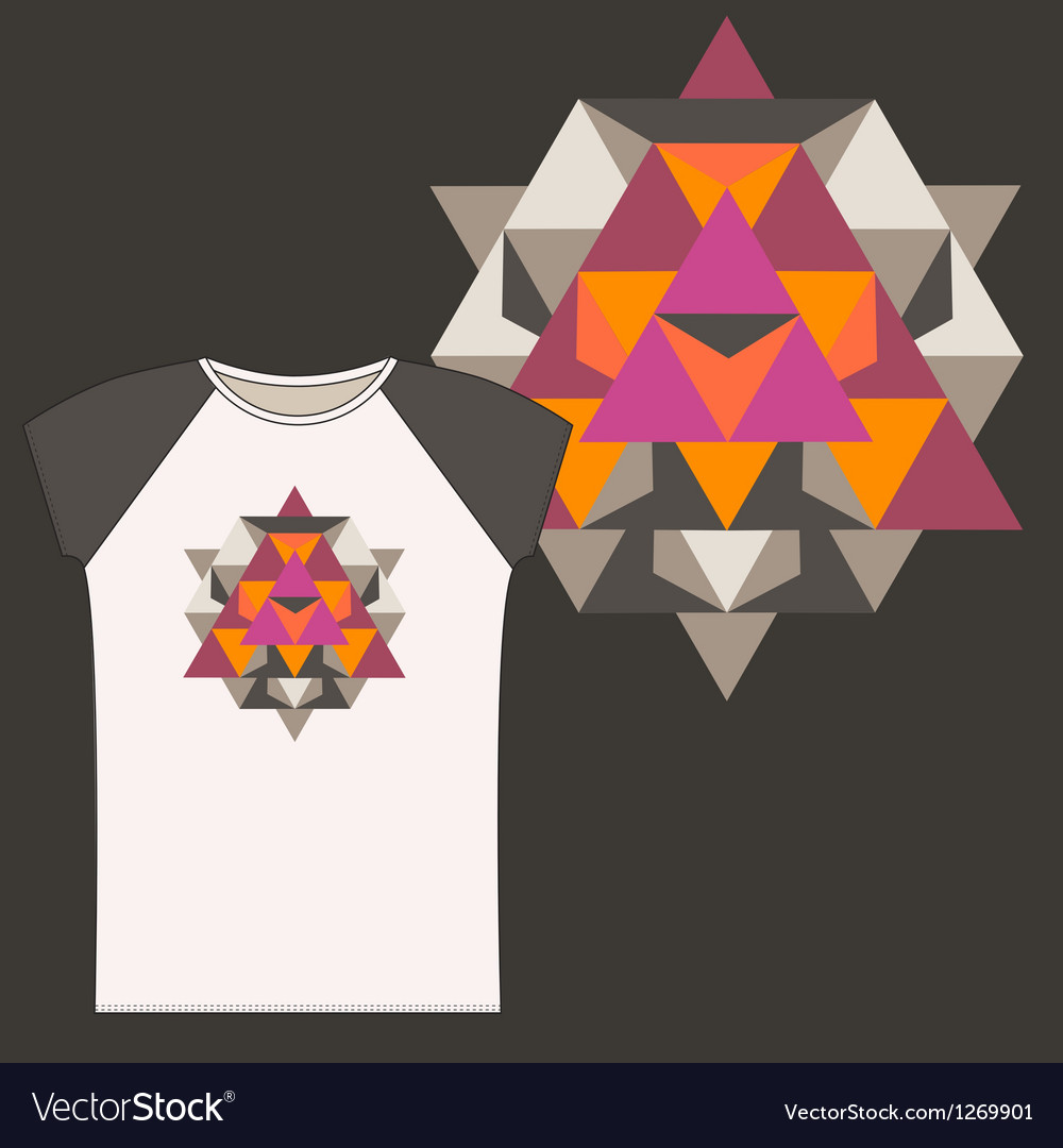 Star tetrahedron for a woman t shirt vector | Price: 1 Credit (USD $1)