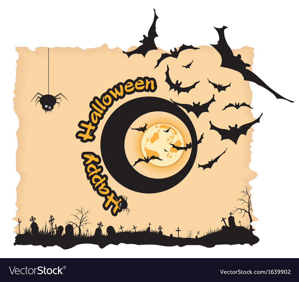 Abstract halloween night background vector | Price: 1 Credit (USD $1)