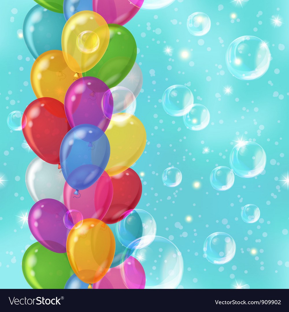 Balloon background seamless vector | Price: 1 Credit (USD $1)