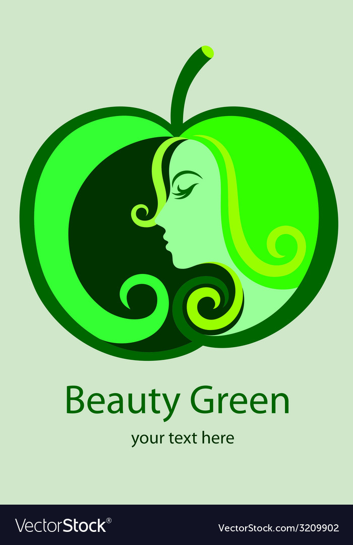 Beauty green logo vector | Price: 1 Credit (USD $1)