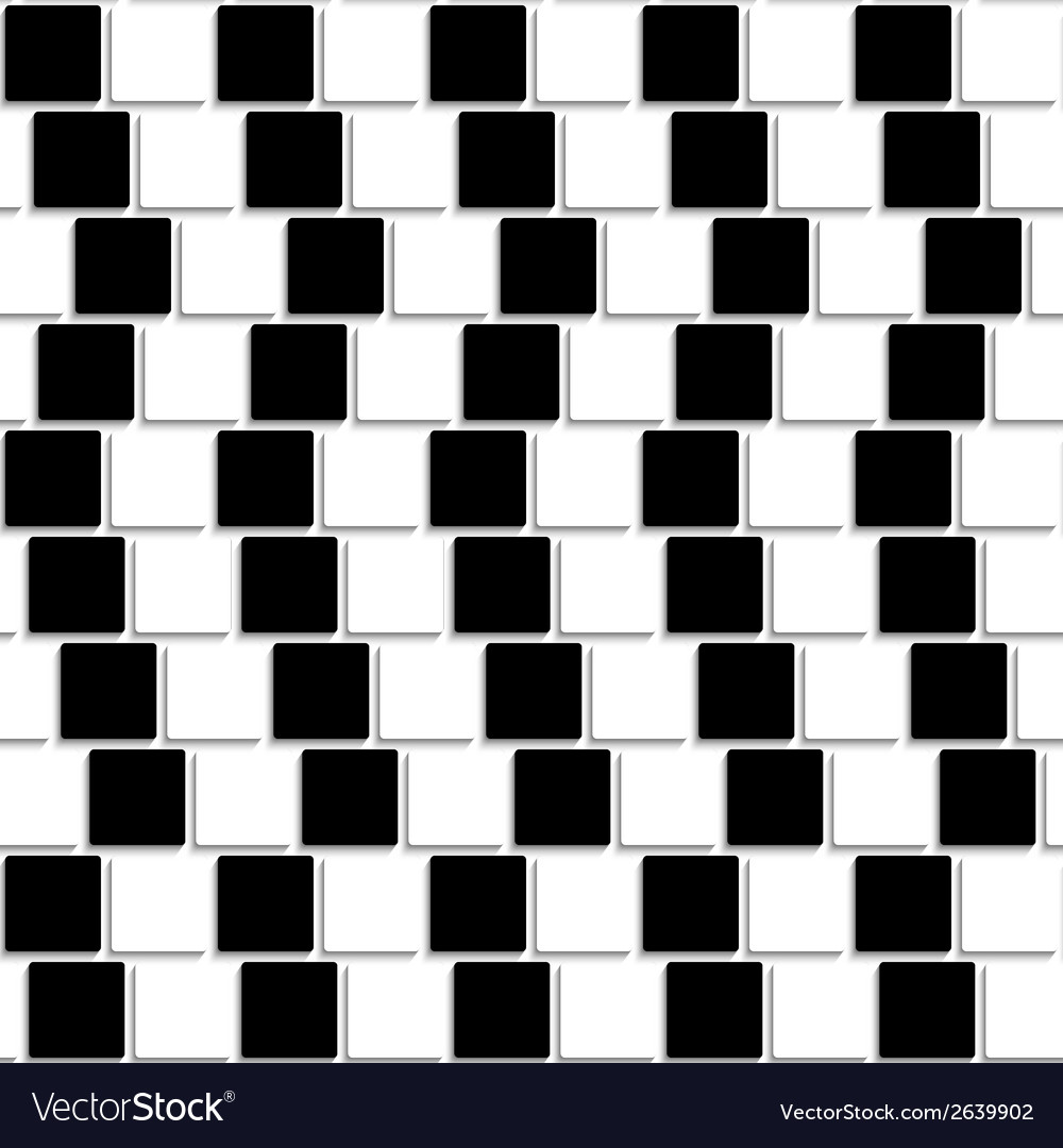 Black and white tiles optical seamless vector | Price: 1 Credit (USD $1)