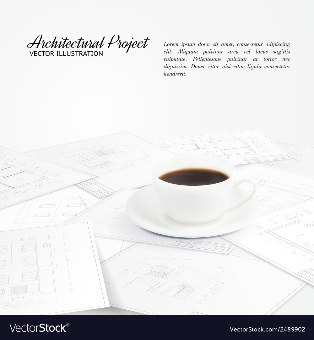 Blueprints sketches vector