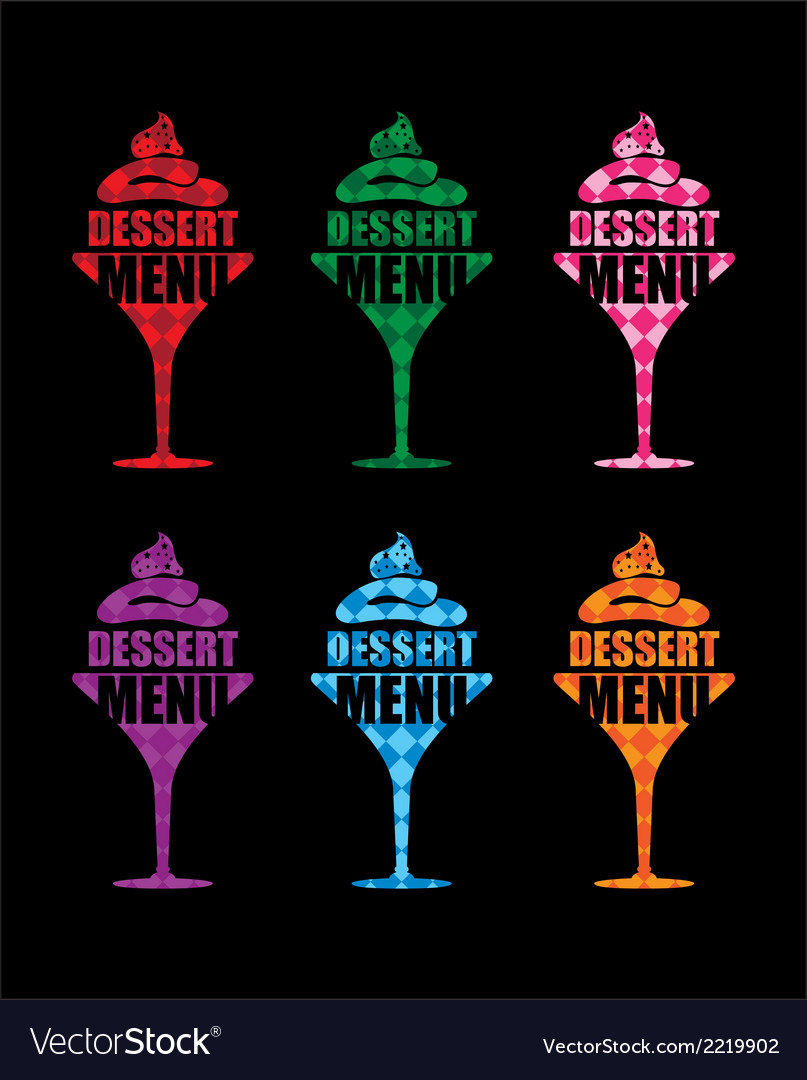 Dessert menu background vector | Price: 1 Credit (USD $1)