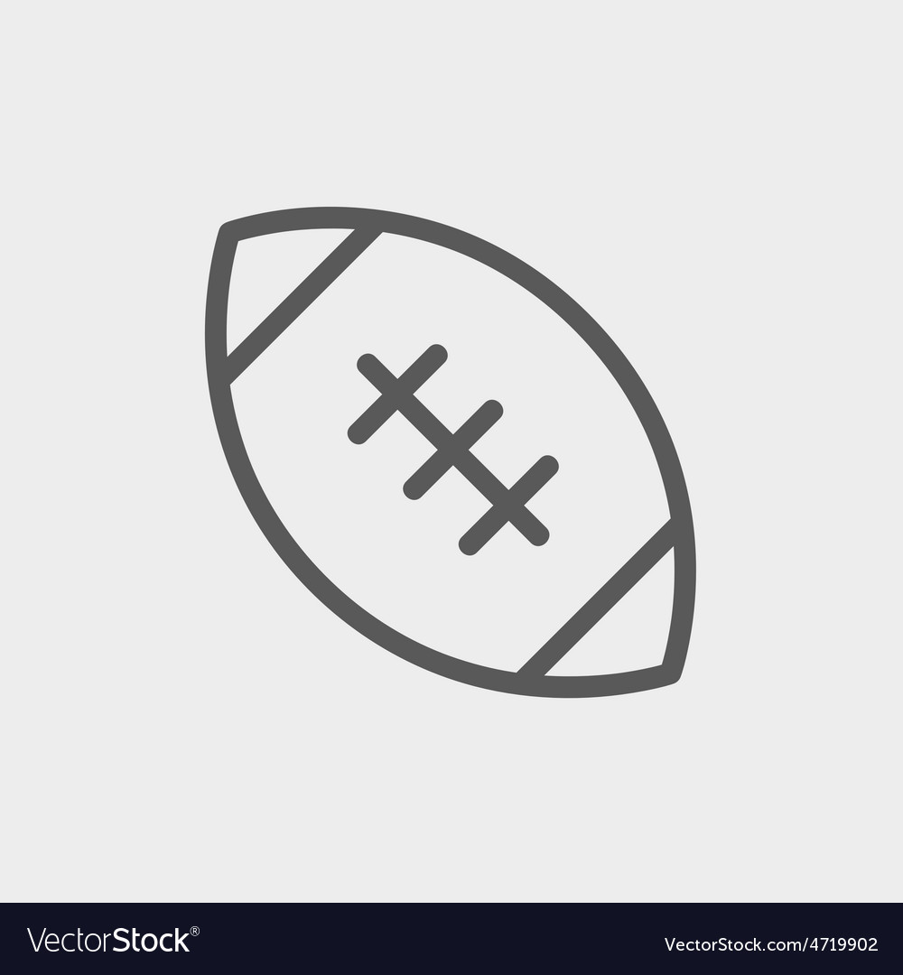 Football ball thin line icon vector | Price: 1 Credit (USD $1)