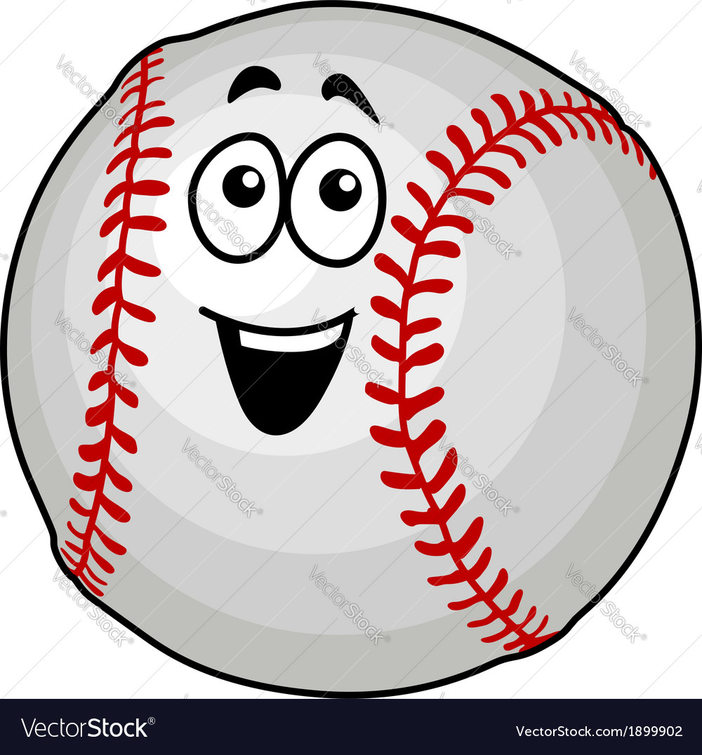 Fun happy baseball ball vector | Price: 1 Credit (USD $1)