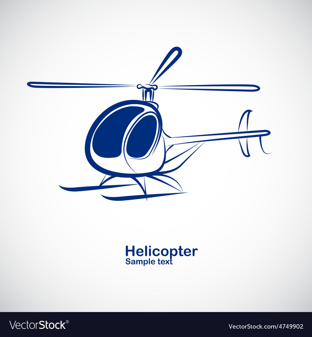 Helicopter 4 vector | Price: 1 Credit (USD $1)