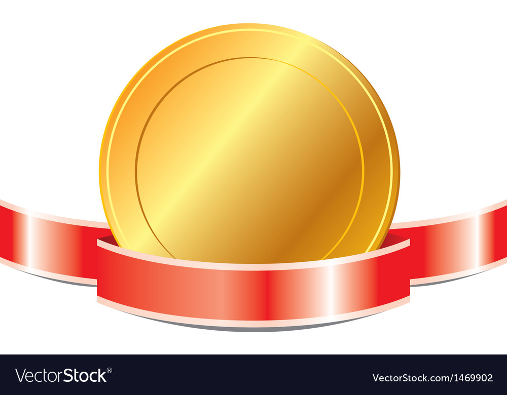Medal with ribbon eps 10 vector | Price: 1 Credit (USD $1)