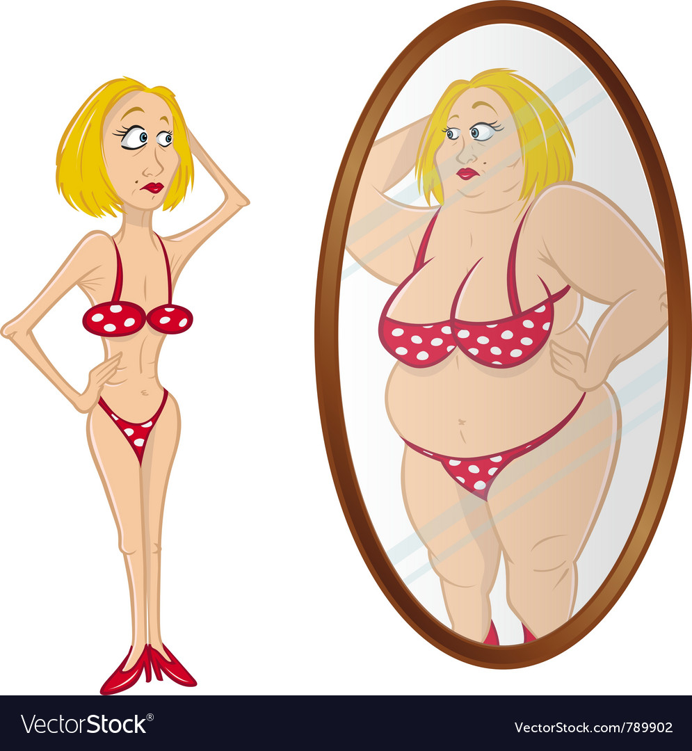 Model skinny anorexic vector | Price: 3 Credit (USD $3)