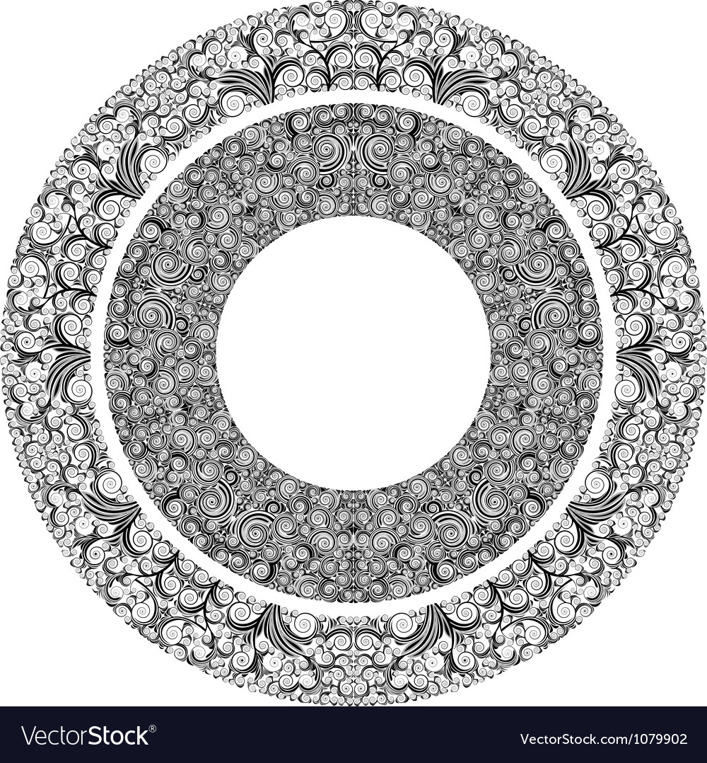Ornamented circles vector | Price: 1 Credit (USD $1)