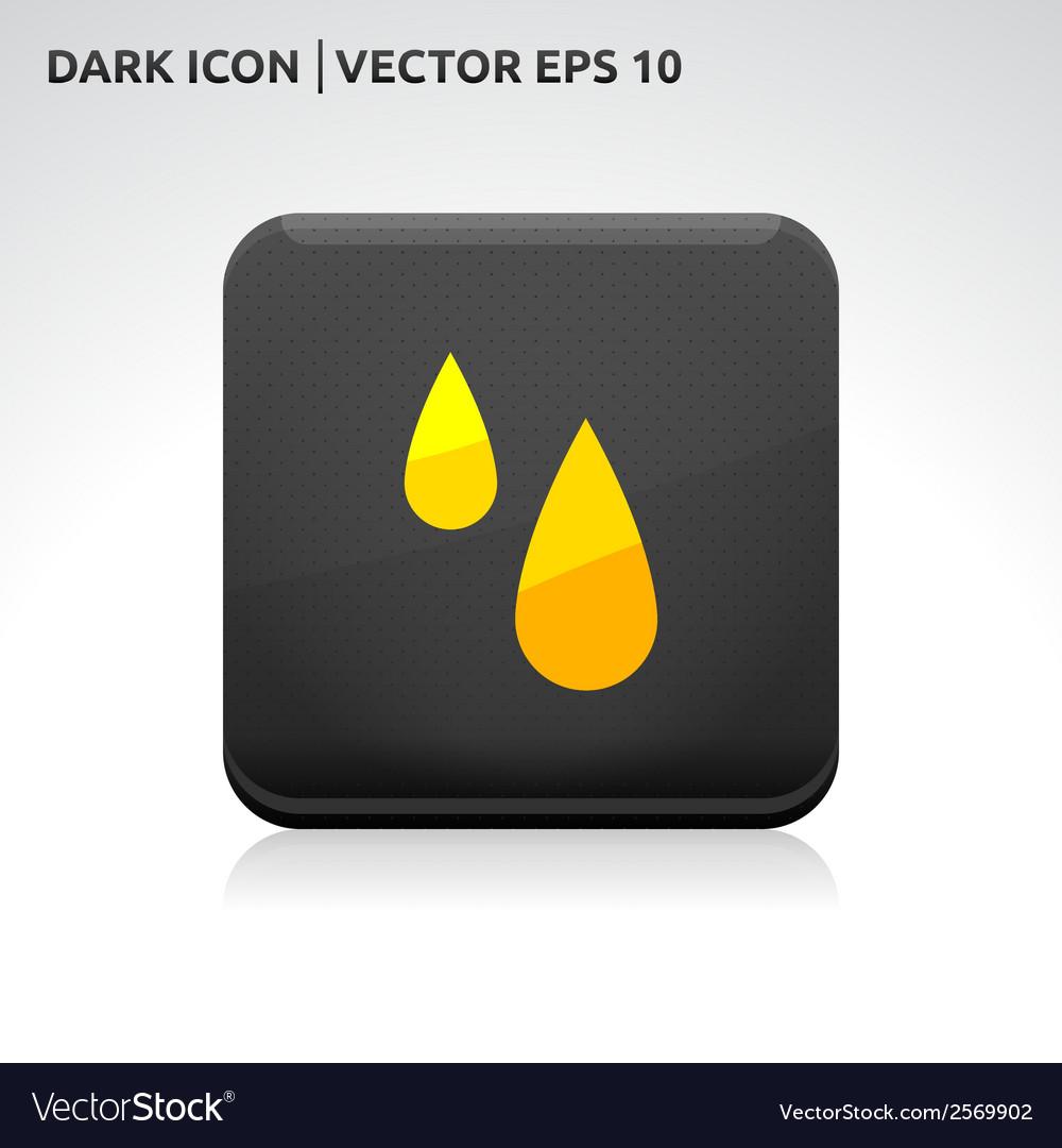 Rain drops icon gold vector | Price: 1 Credit (USD $1)
