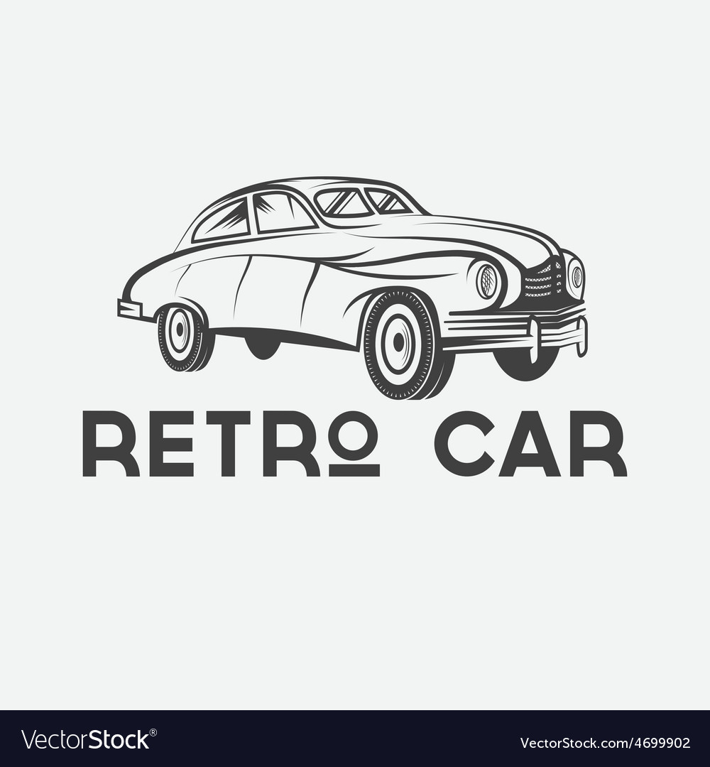 Retro car design template vector | Price: 1 Credit (USD $1)