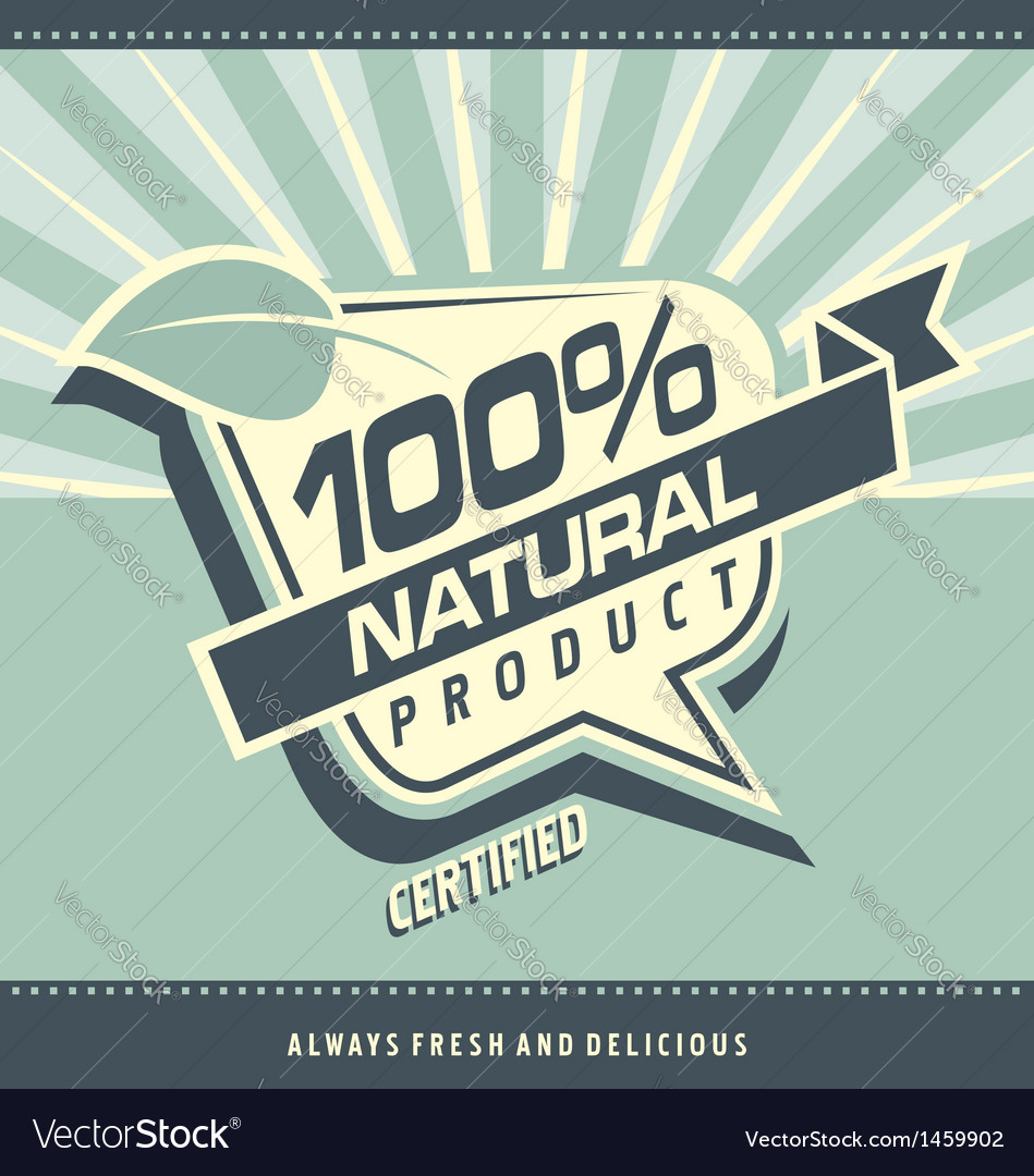 Retro label for organic food vector | Price: 1 Credit (USD $1)