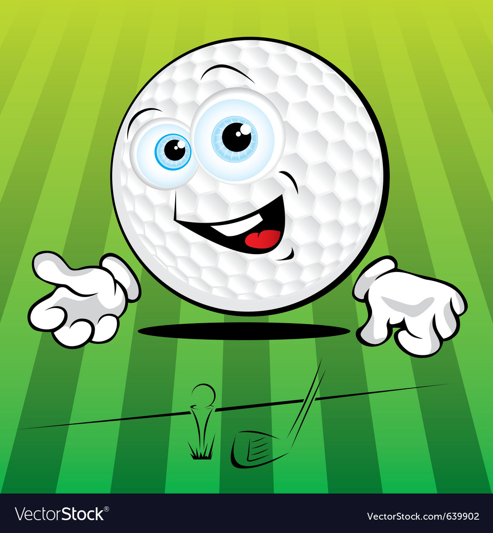 Smiling golf ball vector | Price: 1 Credit (USD $1)