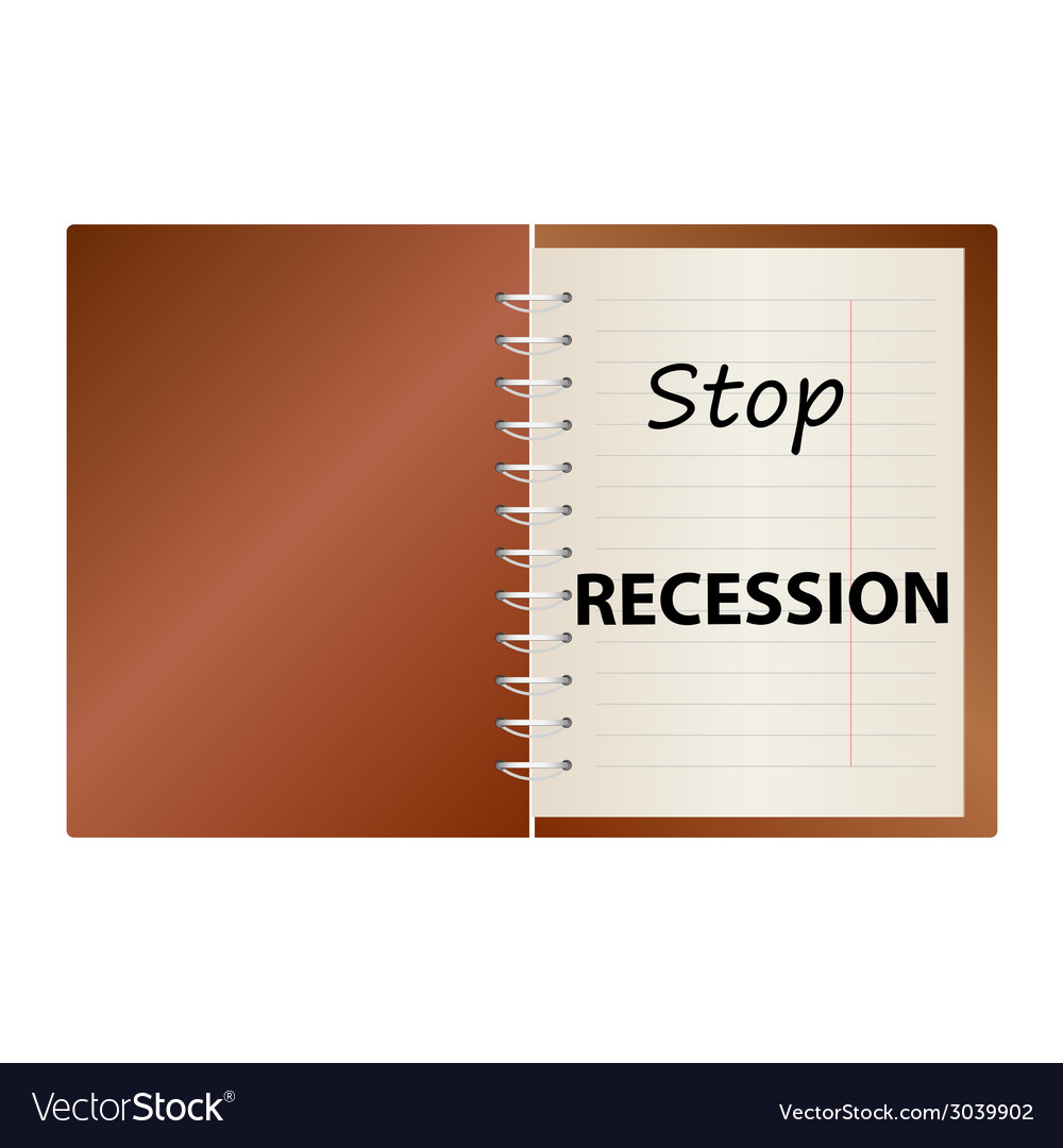 Stop recession on notebook color vector   Price: 1 Credit (USD $1)