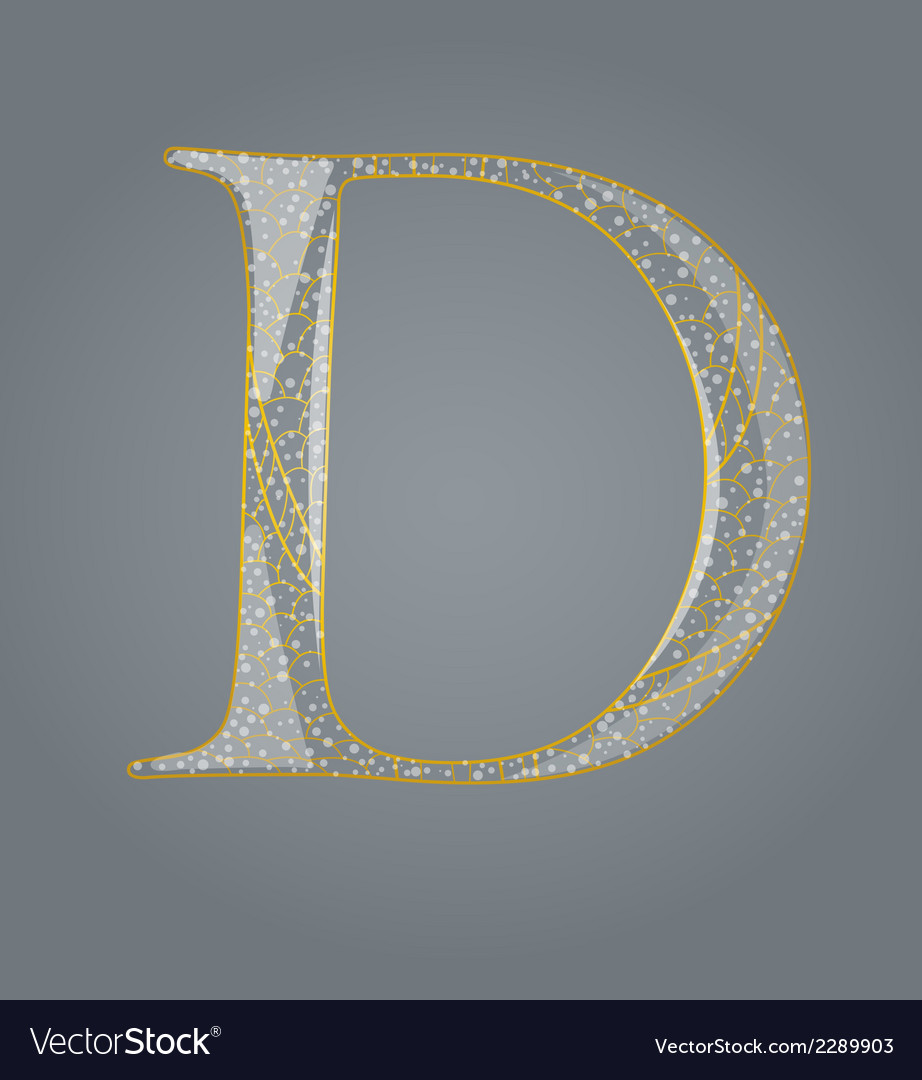 Abstract golden letter d vector | Price: 1 Credit (USD $1)