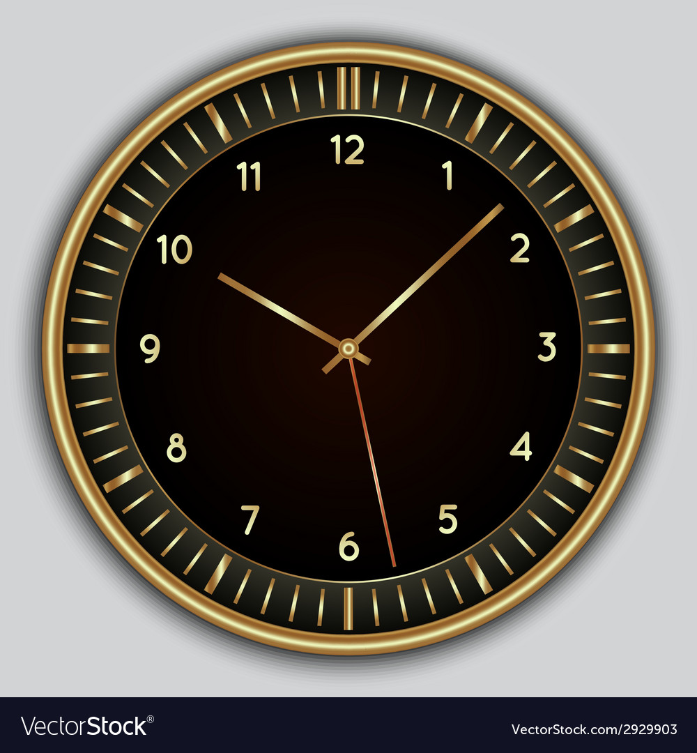 Abstract simple round clock vector | Price: 1 Credit (USD $1)