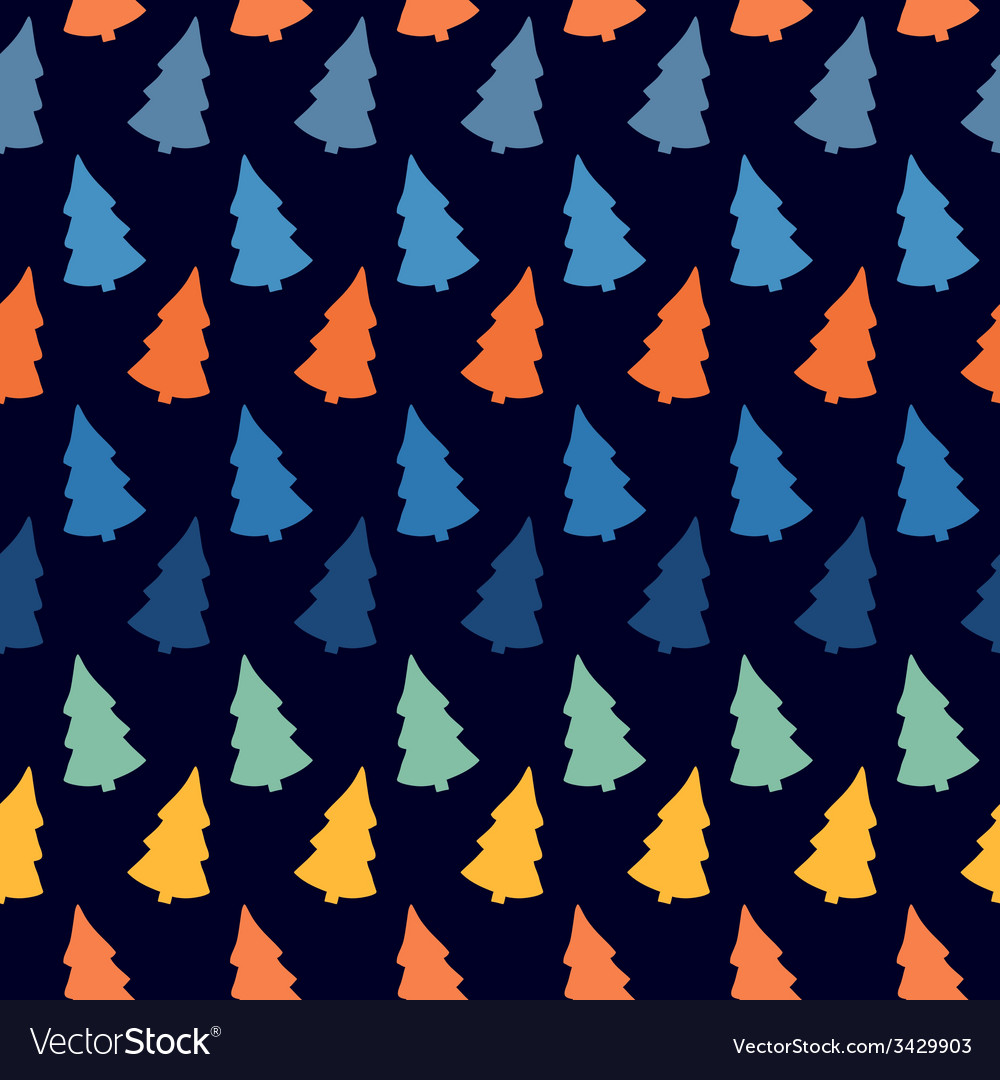 Abstract with colorful christmas tree seamless vector | Price: 1 Credit (USD $1)