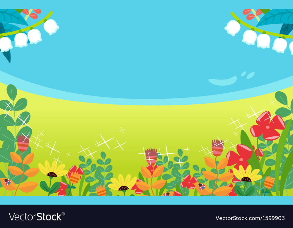 Background spring flower vector | Price: 1 Credit (USD $1)