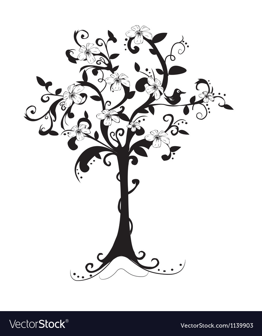Beautiful bare tree vector | Price: 1 Credit (USD $1)