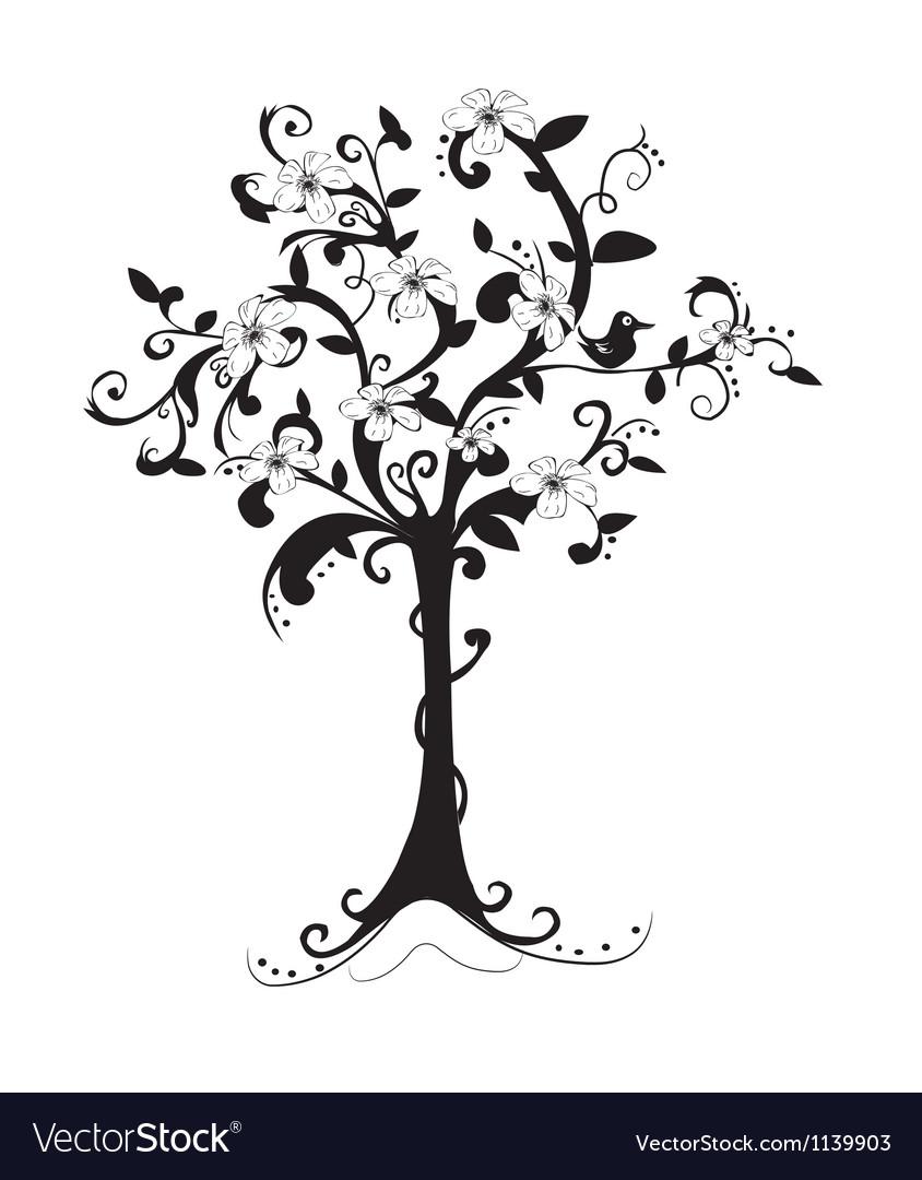 Beautiful bare tree vector | Price: 1 Credit (USD $1)