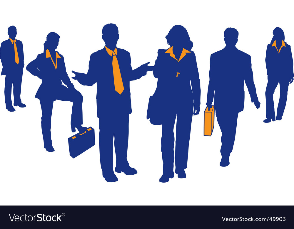Business team vector | Price: 1 Credit (USD $1)