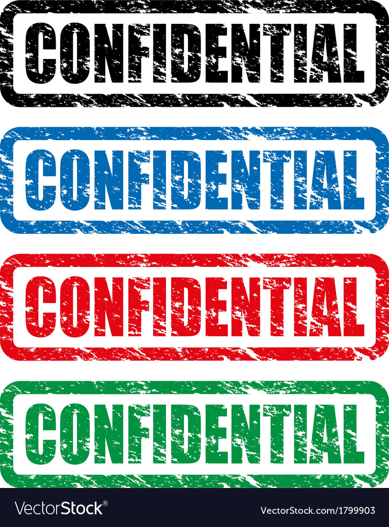 Confidential stamp vector | Price: 1 Credit (USD $1)