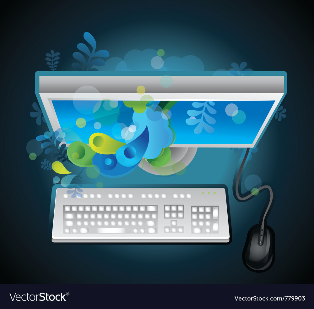 Creative concept computer vector | Price: 1 Credit (USD $1)
