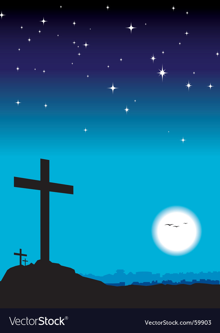Crosses on hill vector | Price: 1 Credit (USD $1)
