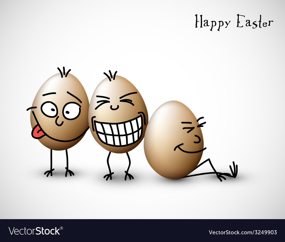 Funny easter eggs vector | Price: 1 Credit (USD $1)