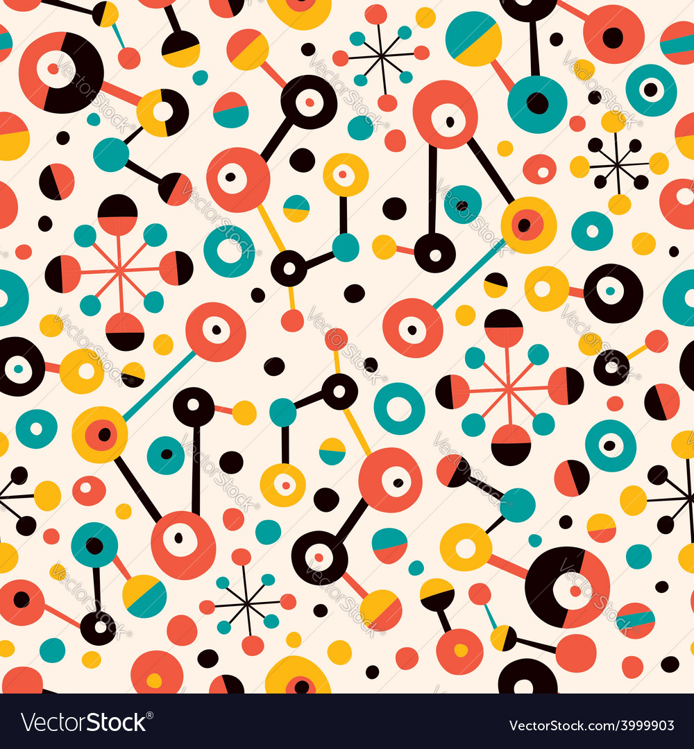 Retro abstract art pattern vector