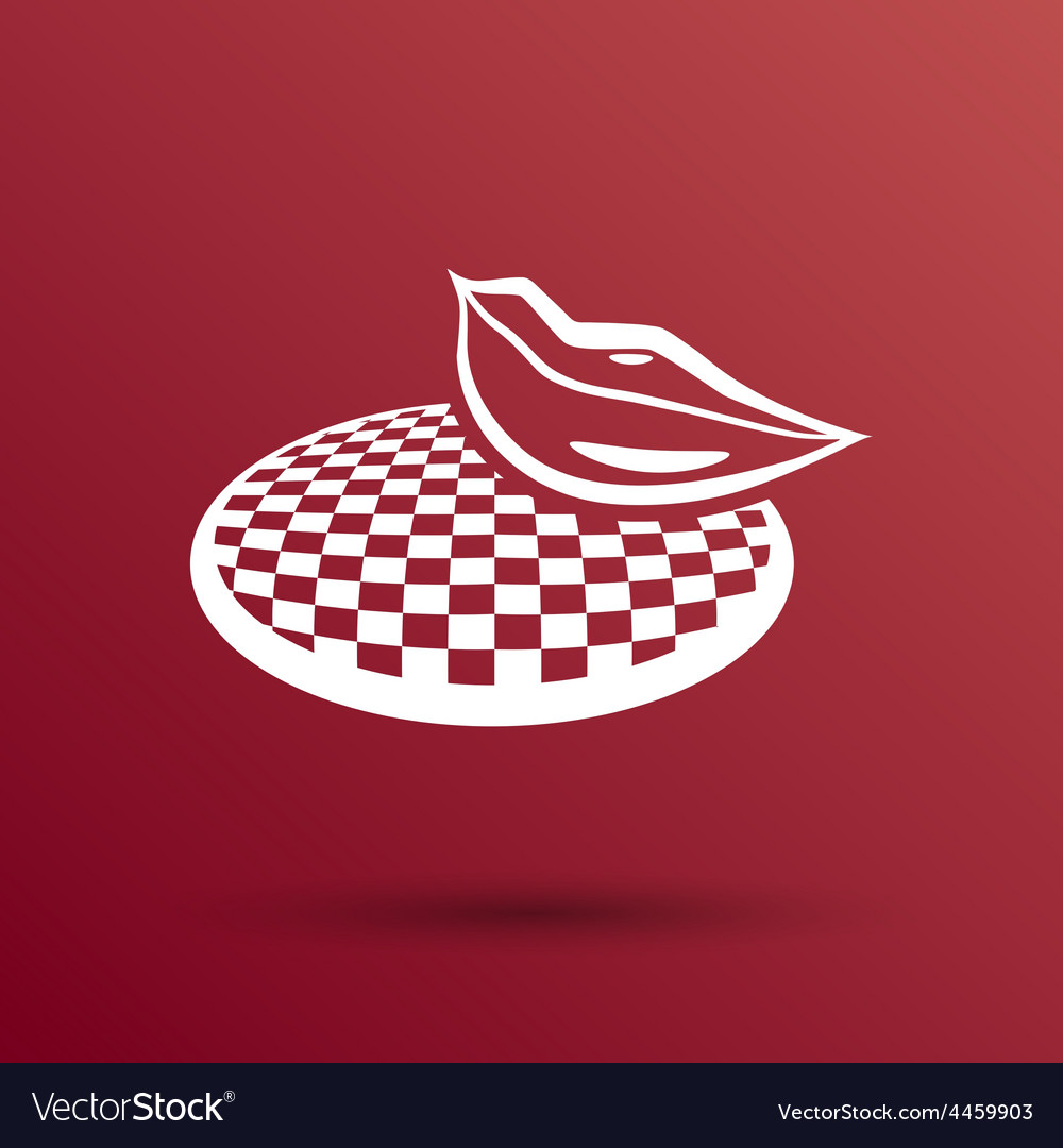 Ruby lips - white area of lips is transparent vector | Price: 1 Credit (USD $1)